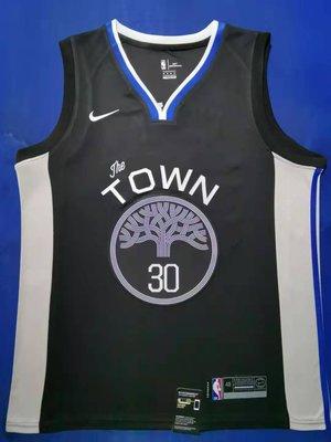 史蒂芬·柯瑞(Stephen Curry) NBA金州勇士隊 球衣 30號 城市版 黑色