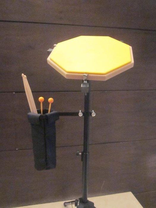 ~全新~12吋爵士鼓打擊練習板 打點板+腳架+手提袋+鼓棒筒 / 打擊墊/ 打擊板/打點板