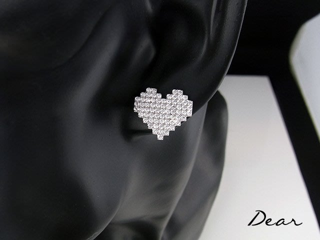 ◎【 Dear Jewelry 】◎ My Logo 心城925銀耳環 閃亮亮 │生日禮物 送女朋友---------免運