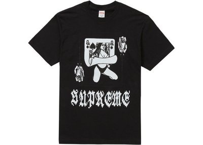☆AirRoom☆【現貨】2019AW Supreme Queen Tee 撲克牌 短TEE