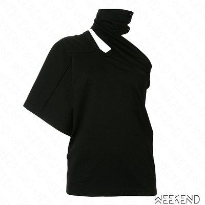 【WEEKEND】 AMBUSH 繞頸 挖空 斜肩 露肩 不對稱 上衣 黑色