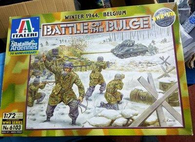 全新-Italeri-6103-Battle Of The Bulge- ground,accessories and figures-1/72-M-300
