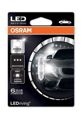 6000k  Led  Osram 36mm C5W Festoon 6498CW 亮白光 Philips