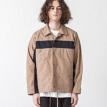 【傑森精品】日本 SLICK 日式 日系 街頭風 輕量 挺括 撞色拼接 寬鬆廓形 教練外套 夾克