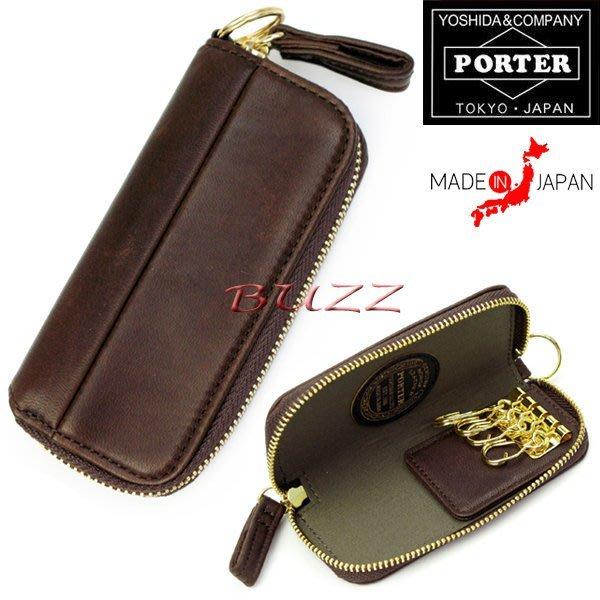 巴斯 日標PORTER屋-三色預購 PORTER WISE KEY CASE 馬革皮夾-鑰匙包 341-01322