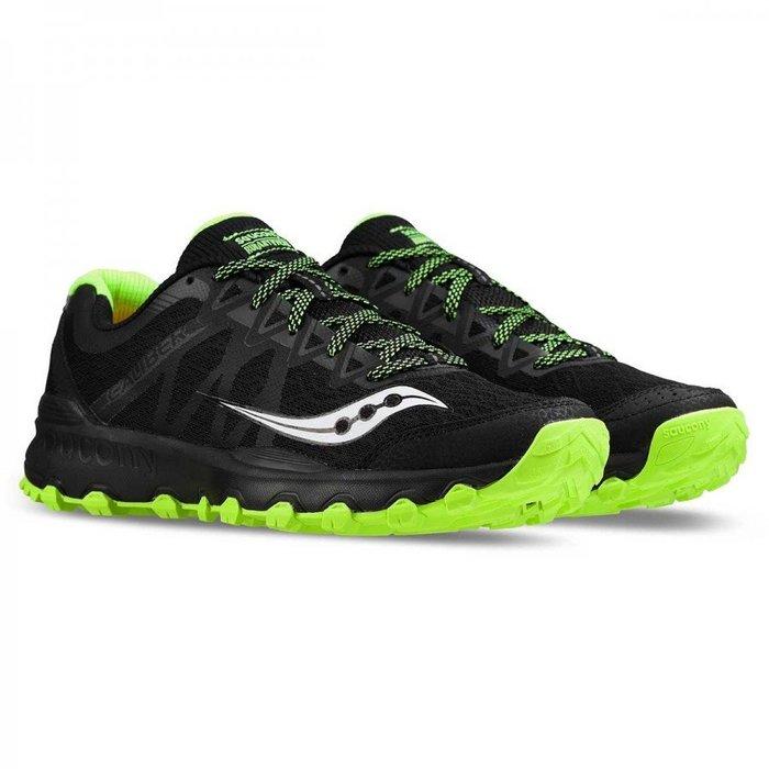 運動GO~ Saucony 索康尼 越野 慢跑鞋 GRID CALIBER TR 黑綠 透氣 輕量 S25326-5