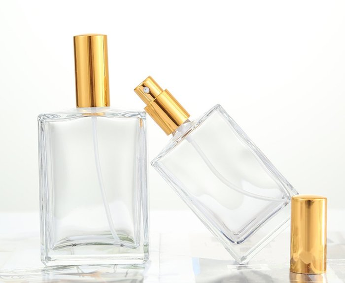 100ml扁方型噴霧香水玻璃瓶☆ VITO zakka ☆噴霧香水空瓶
