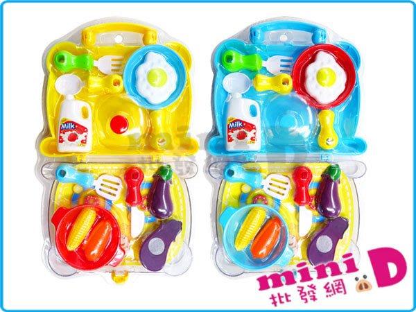 可愛餐具組  切切看 切菜 手提 扮家家酒 兒童廚房遊戲 互動遊戲 禮物 玩具批發【miniD】[7014180003]