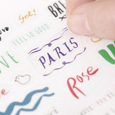 Ξ ATTIC Ξ 韓國GMZ~ Petit Deco Calligraphy 小裝飾 好用手寫文字裝飾貼紙