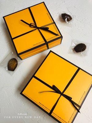 AM好時光【M273】愛馬仕風 黃橘色禮品包裝盒❤中秋節月餅盒 鳳梨酥馬德蓮常溫蛋糕包裝盒 手工皂盒 彌月喜餅乾回謝禮盒