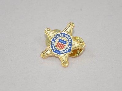 美國特勤局(U.S Secret Service/USSS)銅質胸針/領徽/徽章