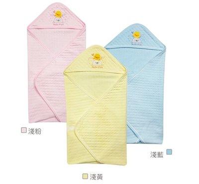 瘋狂寶寶** 黃色小鴨PiyoPiyo 包紗夏季包巾(淺藍81786、淺粉81787、淺黃81788)
