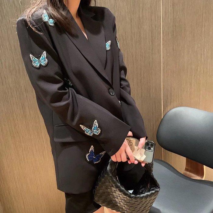 PapaDarling 20SSw 明星款式時尚立體設計感滿滿蝴蝶裝飾 西裝外套