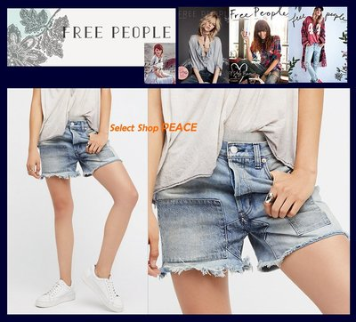 Free People 美國【現貨】27吋 短褲 Relaxed & Patched Denim