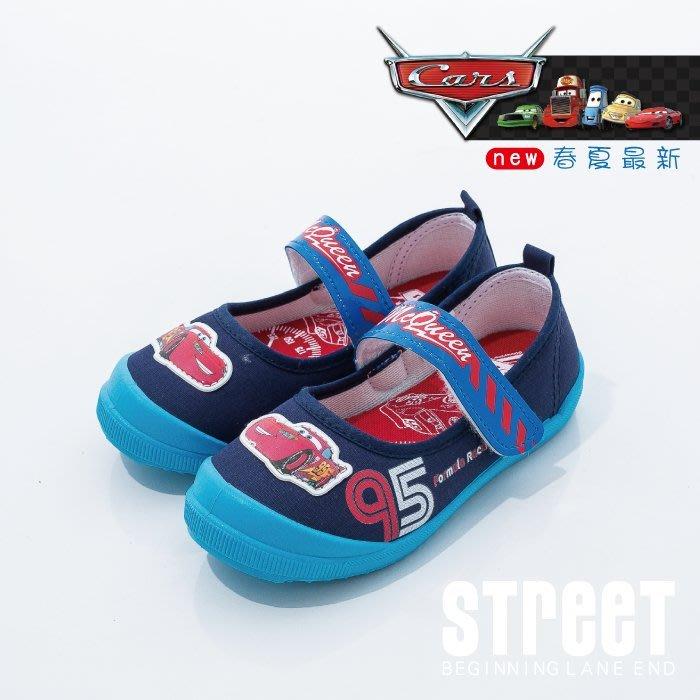 【街頭巷口 Street】 閃電麥坤 CARS 童鞋 幼稚園必備 魔鬼氈 室內外童鞋 KR564406BE 藍色