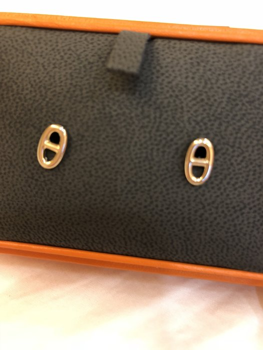 [ COCO馬 ] 全新正品 愛馬仕 HERMES 18k 玫瑰金 豬鼻子 耳環