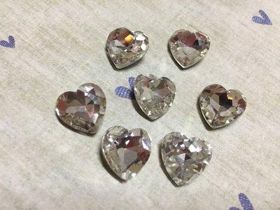 14mm 愛心造型鑽 DIY素材 奶油殼 貼鑽 袖珍小物 飾品材料 (現貨)