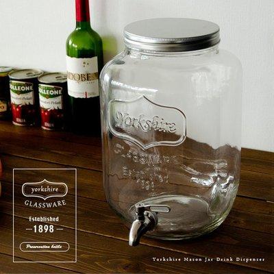 【Q1本舖】現貨 Mason【 5L玻璃罐】梅森罐 304不銹鋼水龍頭  出口歐美日本 冷水壺 飲料桶 紅茶桶冷水瓶