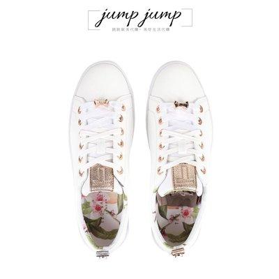 《 跳跳代購 》Ted Baker 正品▹Kellei Trainers 白色金標花朵小白鞋 UK5