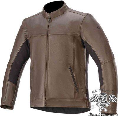 ♛大鬍子俱樂部♛ Alpinestars ® Topanga 美式 經典 復古 騎士 水牛皮 皮衣 防摔衣 棕色