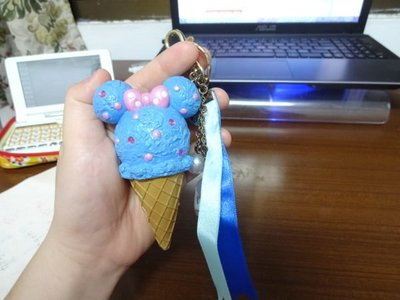 Disney Land 東京迪士尼園區限定帶回Minnie 米妮 仿真冰淇淋甜點吊飾 IN JP