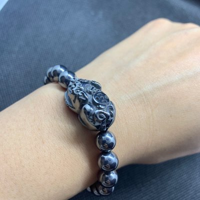 特價回饋鈦赫茲手鍊手珠貔貅招財咬錢手鏈日本熱銷能量