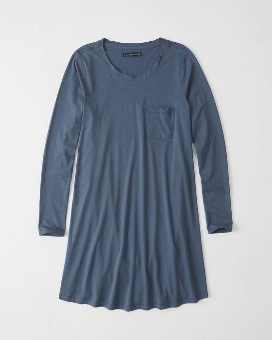 【天普小棧】A&F Abercrombie&Fitch Knit Swing Dress長袖棉質洋裝XS號 現貨抵台