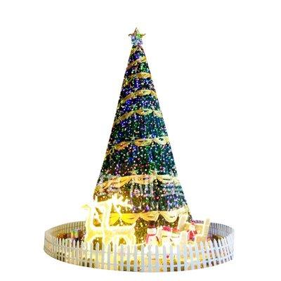 大型框架聖誕樹套餐6M戶外發光樹5米8米10米室外場景聖誕節日裝飾