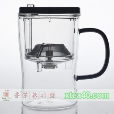 沖泡品茗杯-小杯(Easy Cup)500ml。無雙酚A、通過SGS、控水按鈕、耐高溫120度C