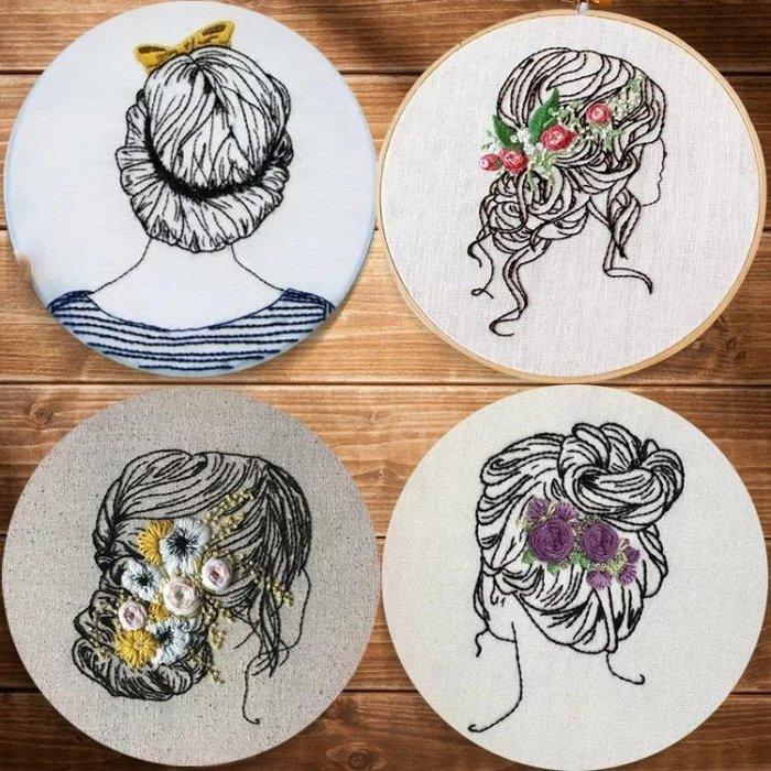 刺繡diy材料包手工創意3d歐式立體刺繡清新初學基礎布藝蘇繡新品