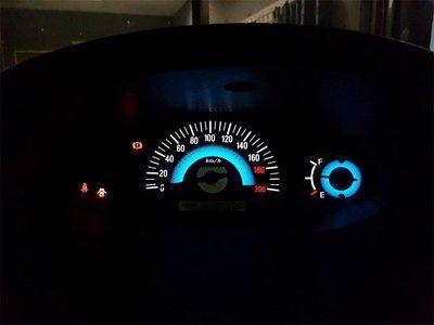 《達克冷光實體店面 現貨供應》TOYOTA 舊款VIOS 漸層藍高反差冷光儀表