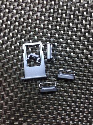 iPhone 6  銀色全套按鍵 電源 開機 音量 按鍵墊片 自行DIY 按鍵無彈性 故障 維修 零件