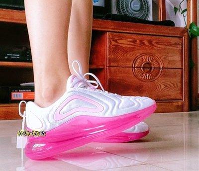 NIKE AIR MAX 720 白粉 全白 桃粉 粉白 全氣墊 粉勾 草莓夾心 休閒 慢跑 女鞋 AR9293-103