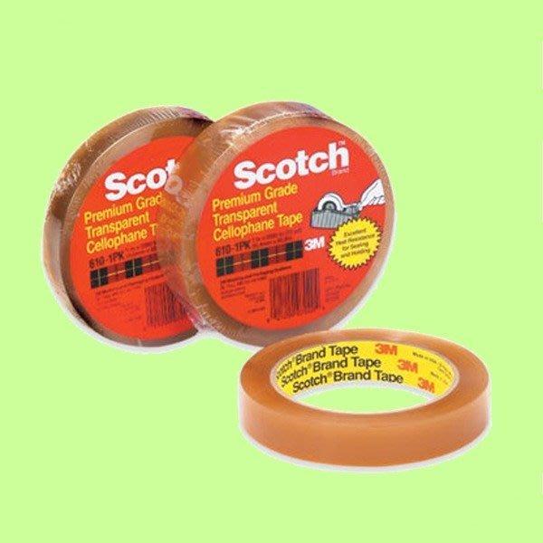 5Cgo【權宇】3M 610-1PK 思高 Scotch 百格膠帶 19*65.8m 油漆表面測試 另25.4mm 含稅