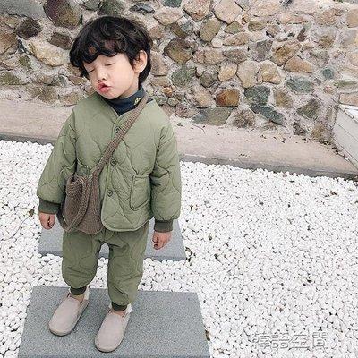 兒童套裝男童2018新款 潮 童裝寶寶棉衣男童內衣套裝小童洋氣棉襖