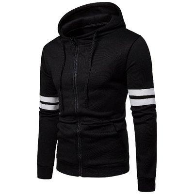 『潮范』 N5 外貿男士套頭衛衣 高端休閑條紋衛衣 棉質連帽外套 夾克