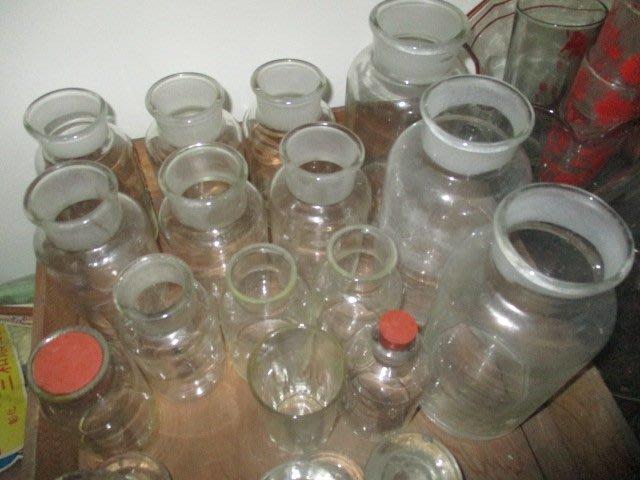 老玻璃..16個..古早..已清潔...老的