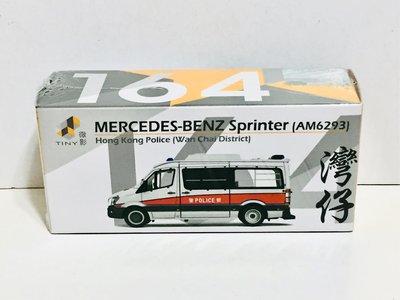 全新 未開封 Tiny 微影 164 合金車仔 平治 MERCEDES-BENZ SPRINTER Facelift AM 6293 警察 衝鋒車