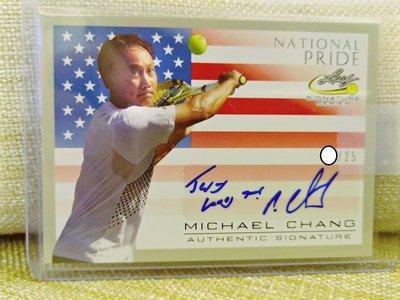 (記得小舖)張德培 2017 Michael Chang Leaf 親筆簽名國旗卡 限量25張 台灣現貨 稀少值得收藏
