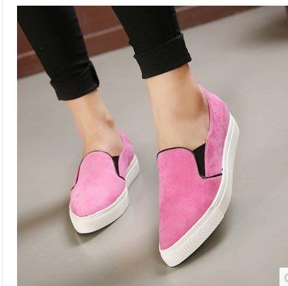 =WHITY=韓國GRAMMI品牌 韓國製  美麗舒適粉色大愛推薦真皮時尚厚底鞋 張柏芝有穿  S5DH370