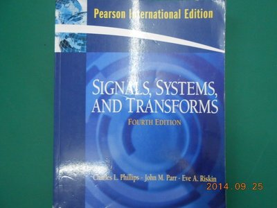 《Signals, Systems, and Transforms》八成新 Fourth Edition ISBN:01