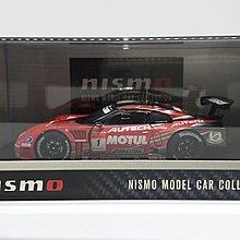 Nismo 1:43 NISSAN 日產 Motul Autech GTR R35 Super GT 2009 No.1