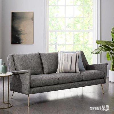 YEAHSHOP 小型沙發 北歐簡約現代輕奢布藝沙發組合設計師個性客廳家具小戶型單雙三人502576Y185