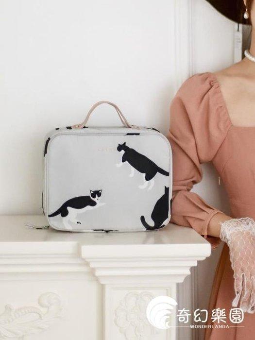 化妝包-化妝包雙層大容量手提化妝箱女大號便攜化妝品收納包- 全館免運
