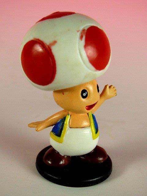 【 金王記拍寶網 】品 M276  SUPER MARIO 香菇小公仔一尊 罕見稀少~(((瑪莉歐公仔賣場)))