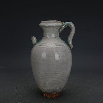 ㊣姥姥的寶藏㊣ 唐代邢窯白釉點彩手工瓷卷口壺  出土古瓷器古玩古董收藏擺件