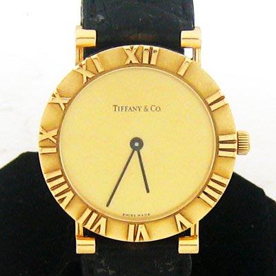 順利當舖  Tiffany & Co/蒂芬妮  ATLAS經典款18K金男錶