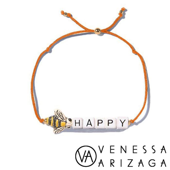 Venessa Arizaga BEE HAPPY 蜜蜂手鍊 亮橙色手鍊
