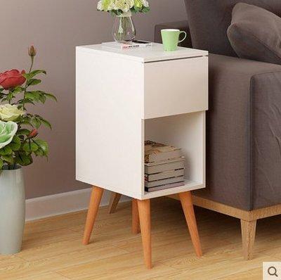『格倫雅』歐意朗 歐式邊幾創意床頭邊桌簡約小戶型儲物櫃角幾客廳沙發邊櫃^15736