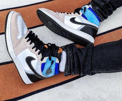 Air Jordan 1 High OG Prototype 藍白 拼接 可裁剪 減震 高筒 籃球鞋DC6515-100